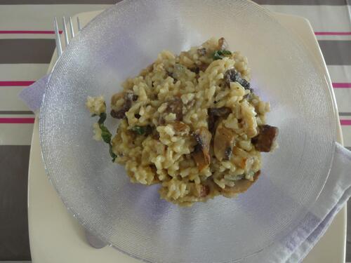"""Risotto aux champignons """"fromagé"""" [Vegan]"""