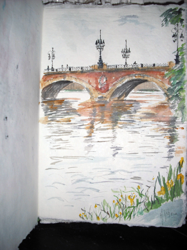 Dessins aquarellés