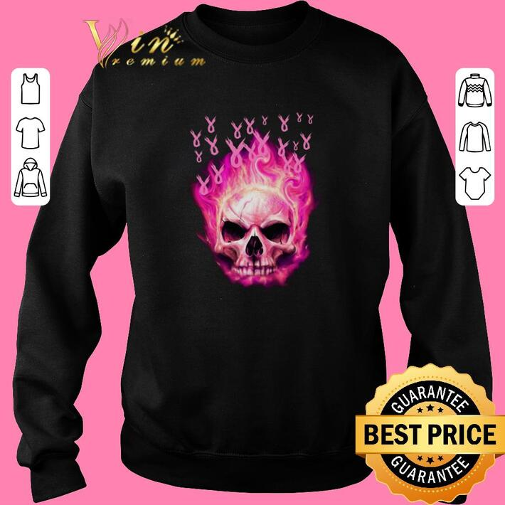 Awesome Breast Cancer Awareness Skull shirt
