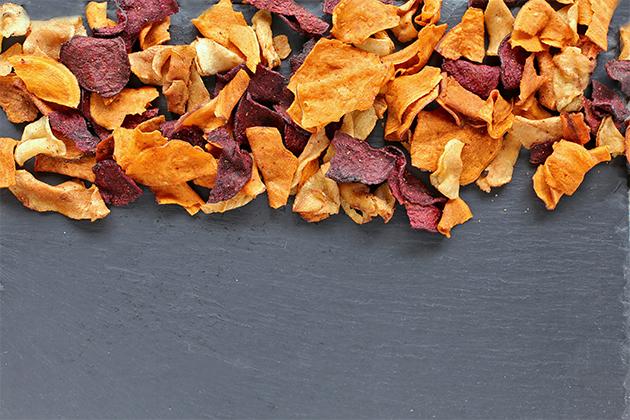 Chips aux légumes à manger en road trip