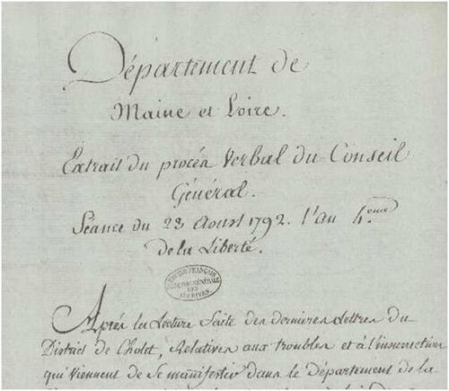1792, vu depuis le Maine-et-Loire (2° partie)....