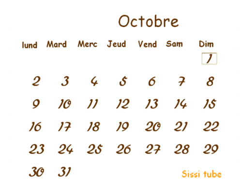 * Mon Diapo Automne  et mon Défi Calendrier Octobre 2017 *