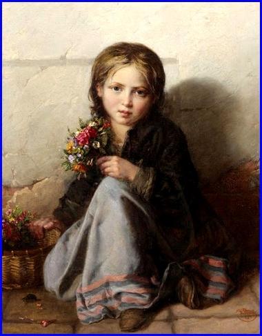 Nikolai Efimovich Rachkov Petite vendeuse de fleurs  1869   Huile sur toile 76,5 x 63,5 cm Collection privée.jpg