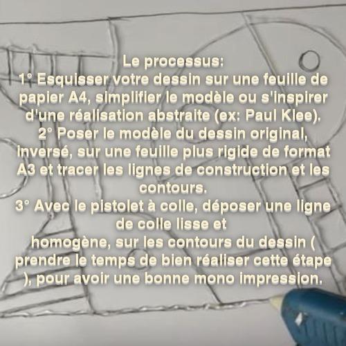 Dessin et peinture - vidéo 3538 : Comment s'inspirer d'une oeuvre de Paul Klee pour réaliser de la mono impression ? - peinture abstraite.