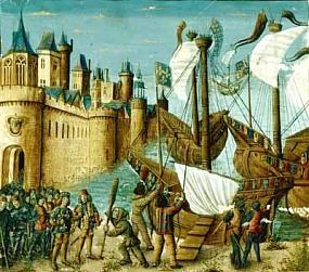 Embarquement de Saint-Louis pour la croisade en 1248