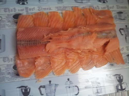 Roulée de saumon au maroilles