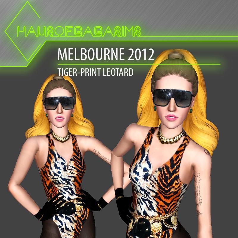MELBOURNE 2012 TIGER-PRINT LEOTARD