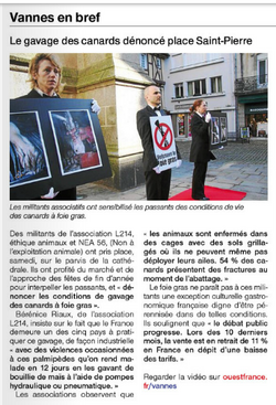 Ouest France - Stop Gavage