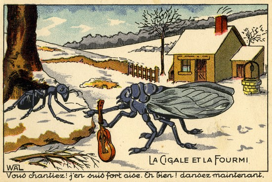 """Résultat de recherche d'images pour """"Cigale et fourmi"""""""