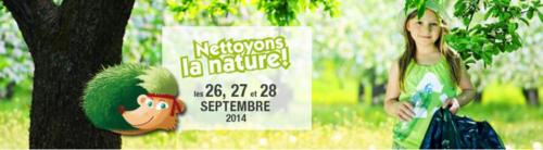 Nettoyons la nature 2014