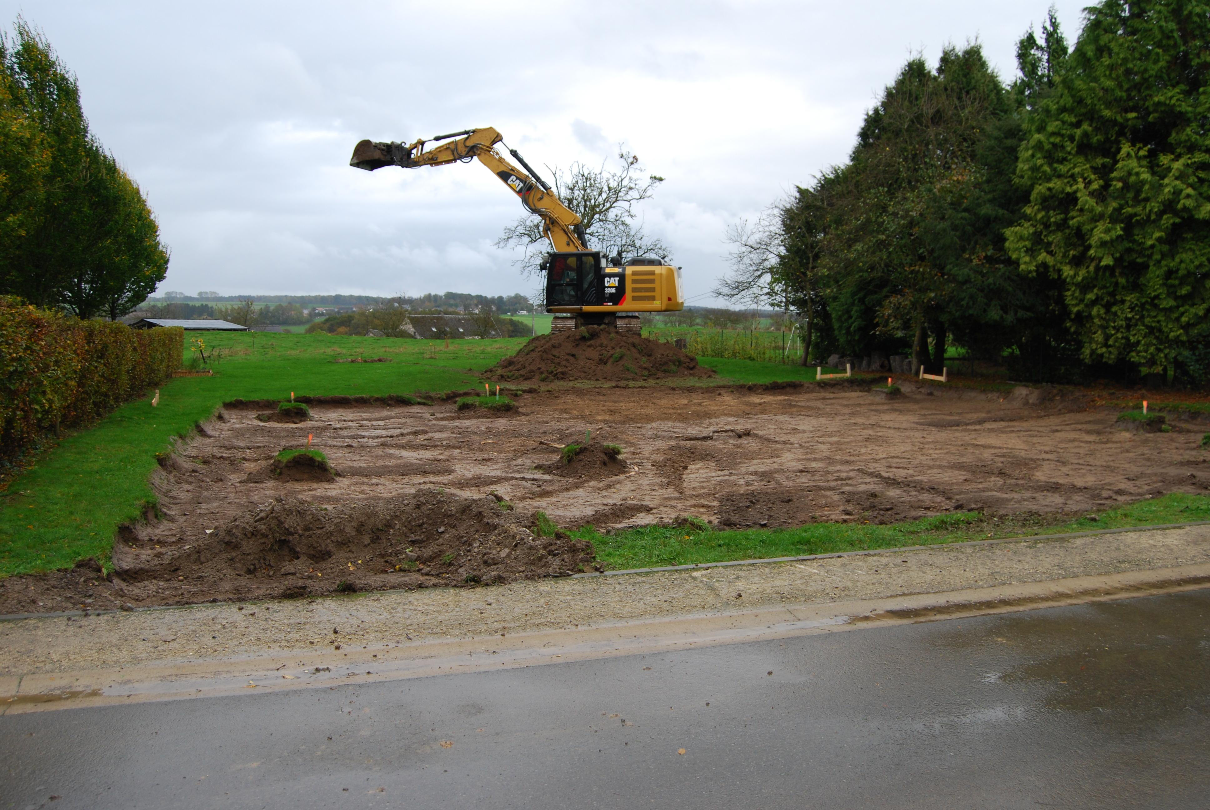 Le terrassement notre projet de construction par thomas - Acces chantier maison individuelle ...
