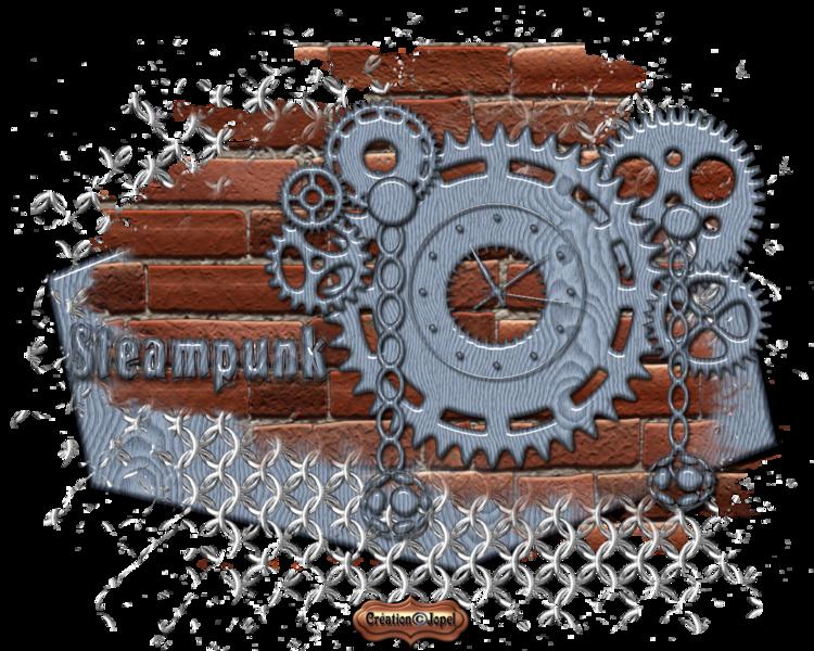 Dame en bleue Steampunk +cadeau horloge et fond parJopel