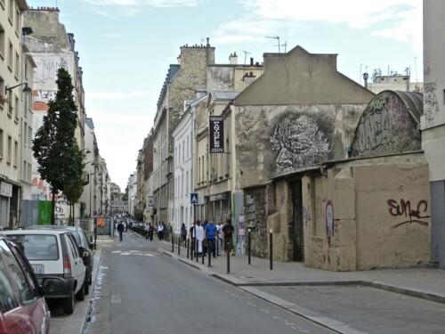 VHILS visage street-art rue Girard 3