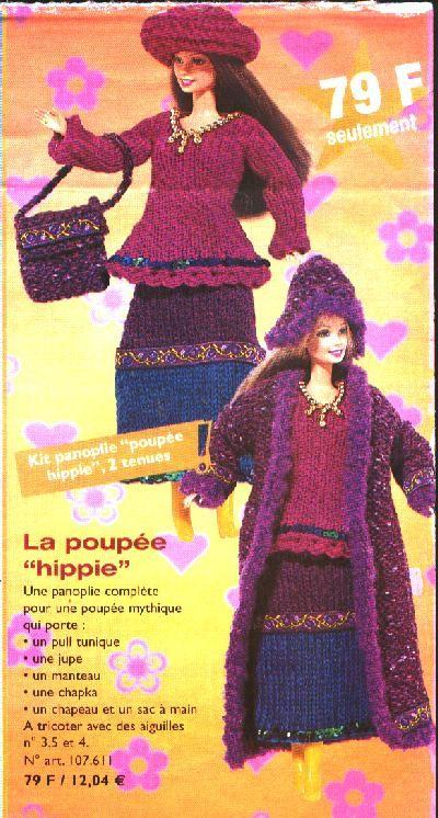 Barbie  années hippie..