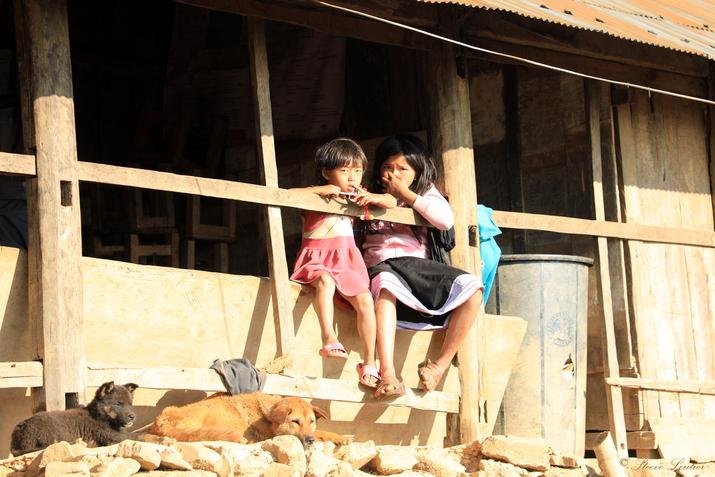 Village Akha Mouji, nord Laos