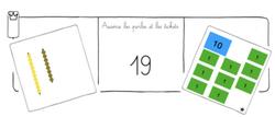 Math 0-100 perles et tickets Montessori