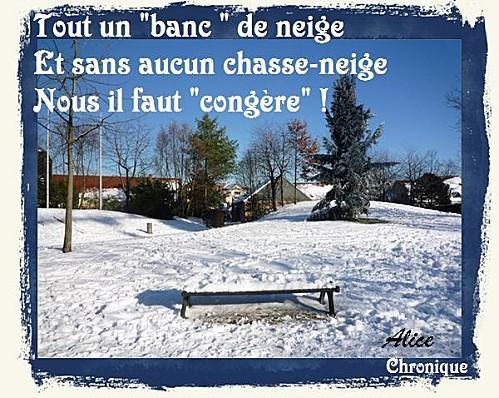Banc-neige 2