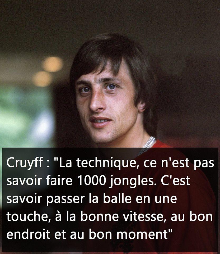 Johan Cruyff La Technique Tout Sur Le Foot