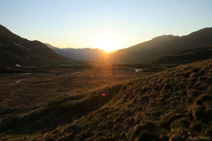 Couché de soleil au refuge de la Blanche