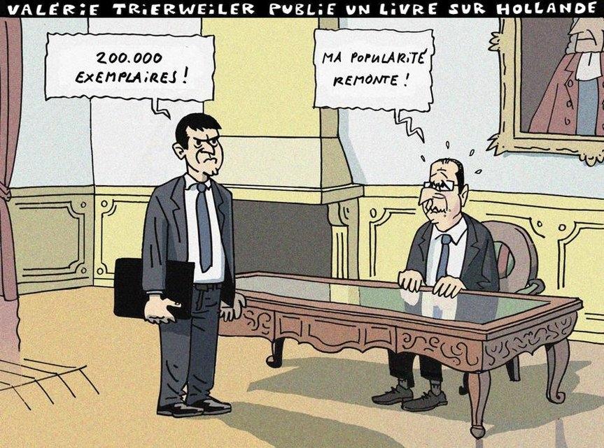 Valérie Trierweiler publie un livre sur Hollande (Herrmann - 04.09.2014)