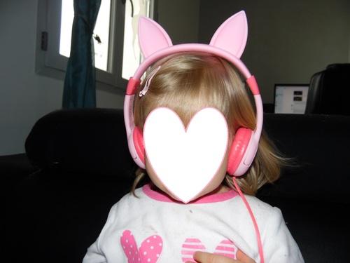 Casque audio oreilles de chat pour petite fille avec limitation de volume