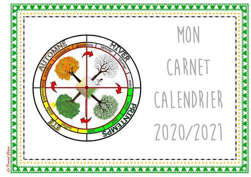 Carnet Calendrier 2020/2021
