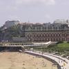 La plage et l'Hotel du Palais de Biarritz