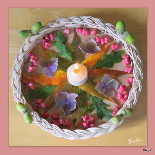 Mandala nature : lumière d'automne