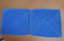 Autres napperons bleus très faciles