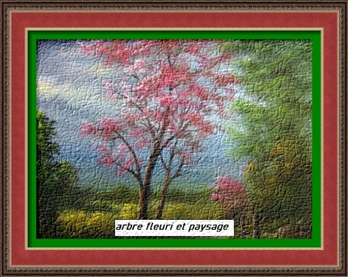 Dessin et peinture - vidéo 2952 : Un arbre en fleurs sous un ciel orageux ( conseils pour peindre un paysage 2 )- peinture à l'huile ou acrylique.