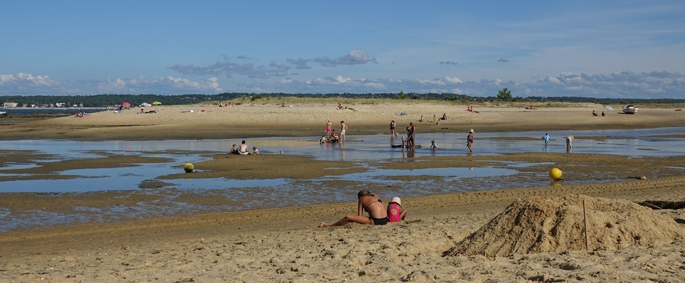 La plage du Phare, au Cap-Ferret...