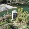 Borne frontière numéro 1 à Chapitelaco-arria, sur la rive droite de la Bidassoa