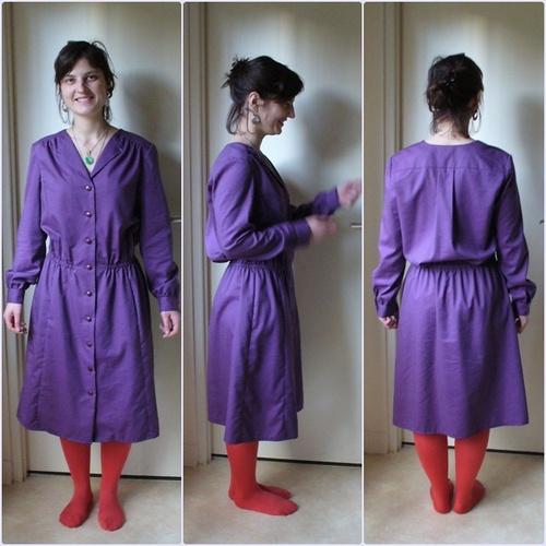 Robe violette sur Charline