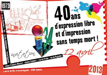 12 avril : l'Imprimerie 34 a 40 ans !