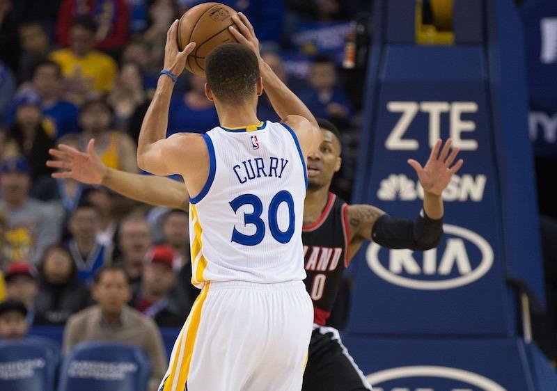 Warriors - Blazers : Stephen Curry et Damian Lillard ont mis le feu !