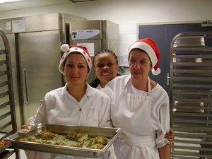 Repas de Noël du lycée : les 2 CR au service