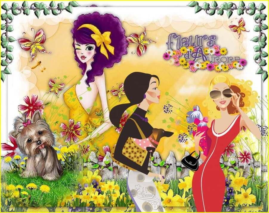 Défi 46:Jeunes filles en fleurs...