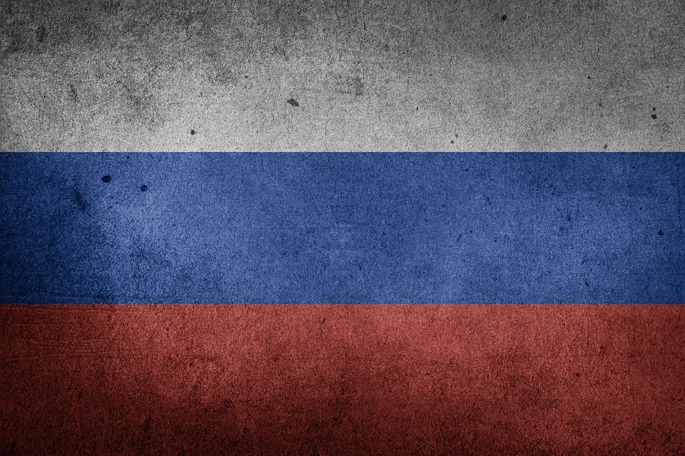 Drapeau, Russie, Asie, Europe, Drapeau National, Grunge