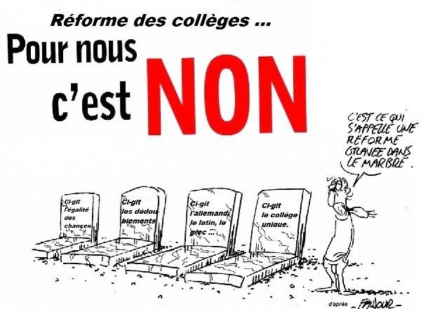 non à la réforme des collèges 2016
