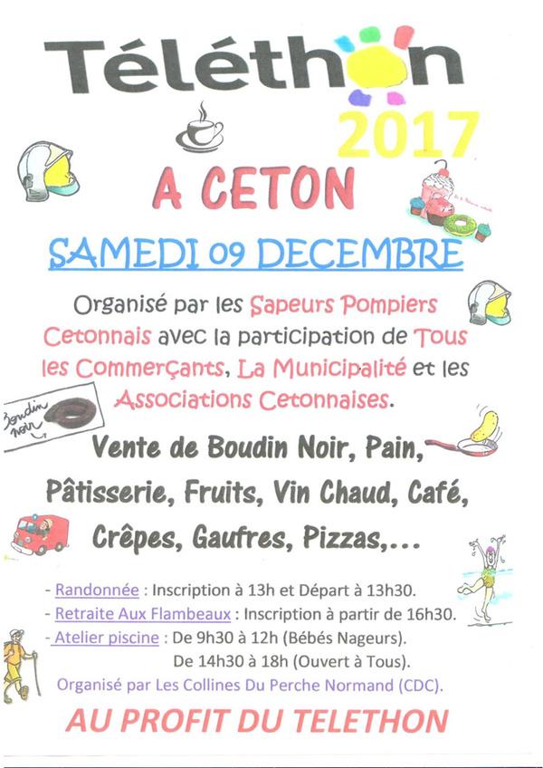 Téléthon à Ceton samedi 9 décembre