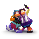 Cutouts de L'Île de Club Penguin