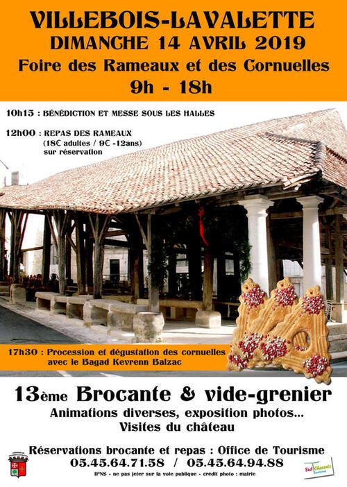 Foire des Rameaux à Villebois-Lavalette.