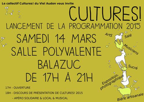 Bateleur : Invitation lancement programmation Cultures! 2015
