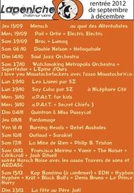 Lapéniche - Concerts rentrée 2012