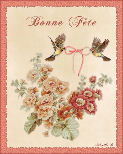 Carte Bonne Fête