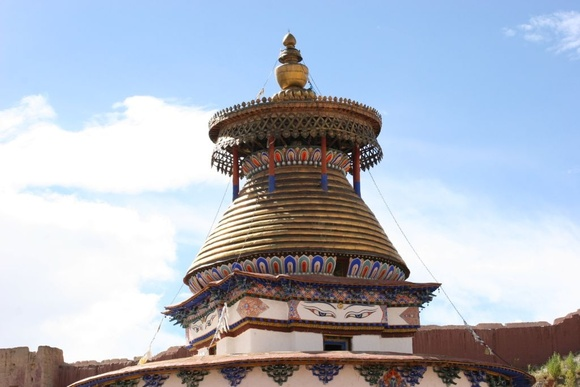 Gyantse; le kumbum ou stupa principal du monastère;