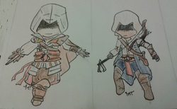 Chibi Assassins' Creed Ezio & Connor