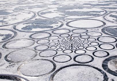 Des crops circles de glace