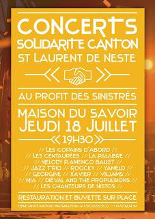 SOIREE DE SOLIDARITE Saint-Laurent-de-Neste