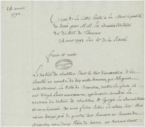 1792, vu depuis le Maine-et-Loire (11° partie)....